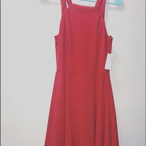 Red Double Strap Dress